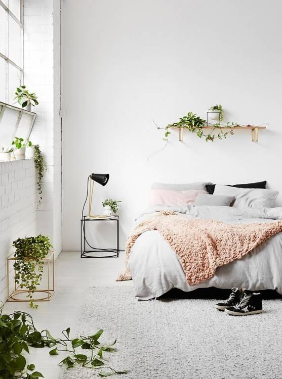 Déco chambre adulte contemporaine – 34 idées créatives : Déco Chambre Blanche Style Campagne Chic deco chambre a coucher