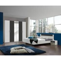 Chambre à coucher adulte design coloris chêne MILOS Rousseau