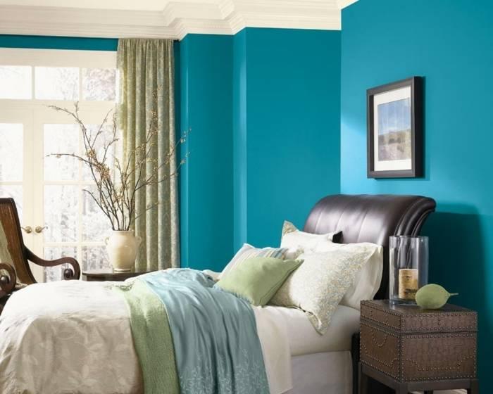 décoration bleu ciel chambre
