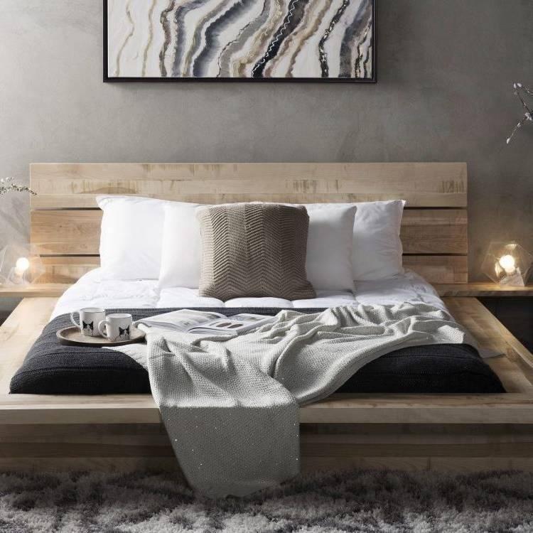 Lit 160x200 cm + armoire + commode + 2 chevets