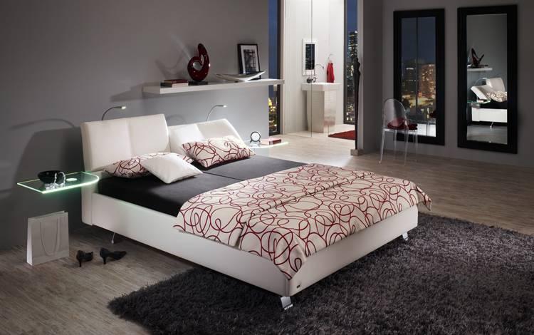 Chambre à coucher design blanche et grise NATHEO 4