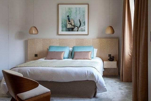 Design d'intérieur chambre à coucher moderne couleur bleu