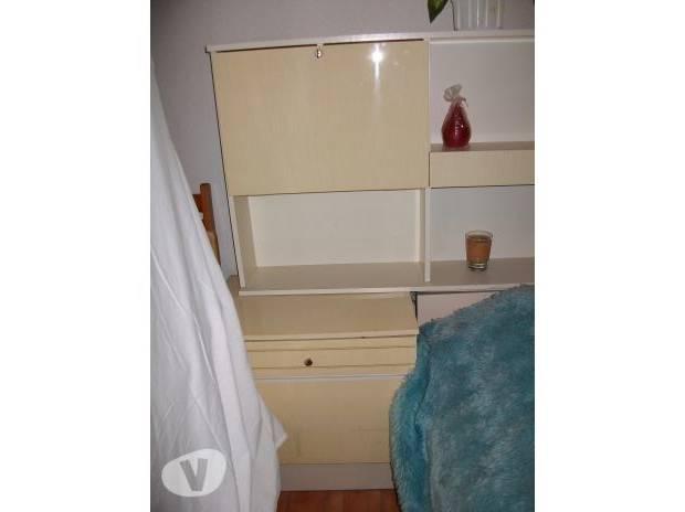 Meubles de finition en bois de chambre à coucher d'hôtel de bois d'ébène  classique