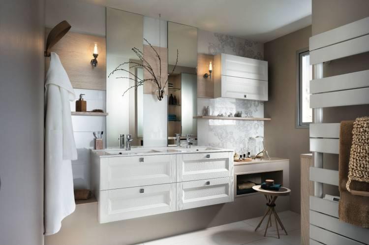 Chambre Salle De Bain Moderne Grise Les Meilleures Idees La Avec Exemple Salle Bain Moderne Carrelage