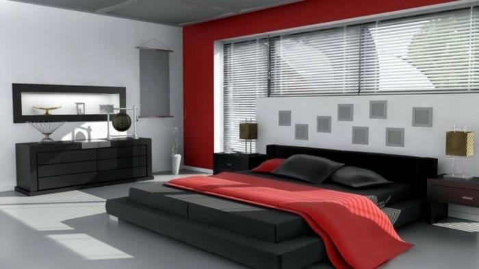 Chambre Gris Et Rouge Moderne ~ stewartpack