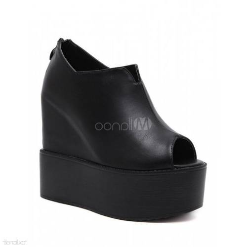 Acheter Sexe Dames Femmes Pompe Talons Épais Sandales Découpe Chaussures À Bout  Ouvert Femmes Noir Peath Red Femmes Désherbage Chaussures Pantoufle Glisser