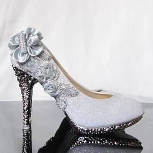 2017 Adulte Summer 2016 plateforme sandales chaussures femmes chaussures à  talons hauts occasionnels bout ouvert gladiateur sa… Argent / Vente sandale