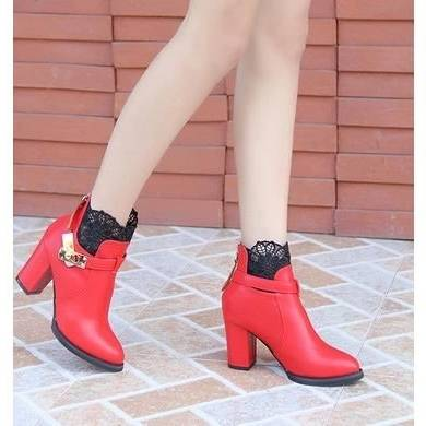Chaussures de demoiselle d'honneur mariage chaussures talons bas Ivoire talons bal bas dentelle bal