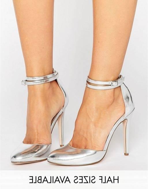 ASOS Sandales | Talons | Hauts Argenté France Heartbeat Effet Cage Chaussures à talon | Argenté