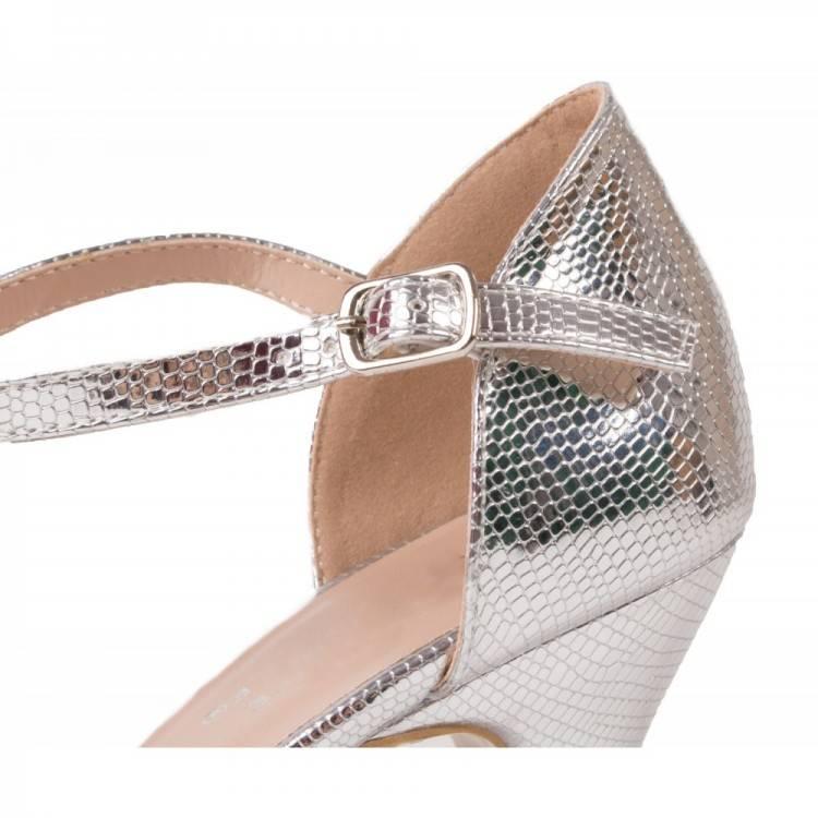 Chaussures Femme Soirée Evénement Noir Argent Talon Aiguille Talons Bout  Ouvert A Plateau Talons Paillette Shop