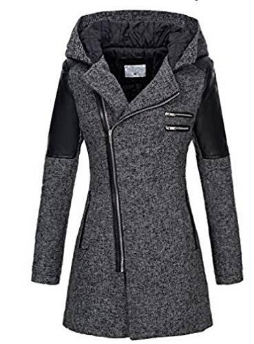 DOUDOUNE Nouveau Femmes Manteau Mode Zipper Bouton Grand
