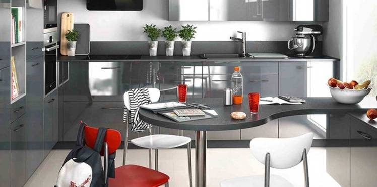 Cuisine gris clair qui ne fait pas grise mine – plus de 90 modèles tendance pour découvrir les bonnes associations de couleurs