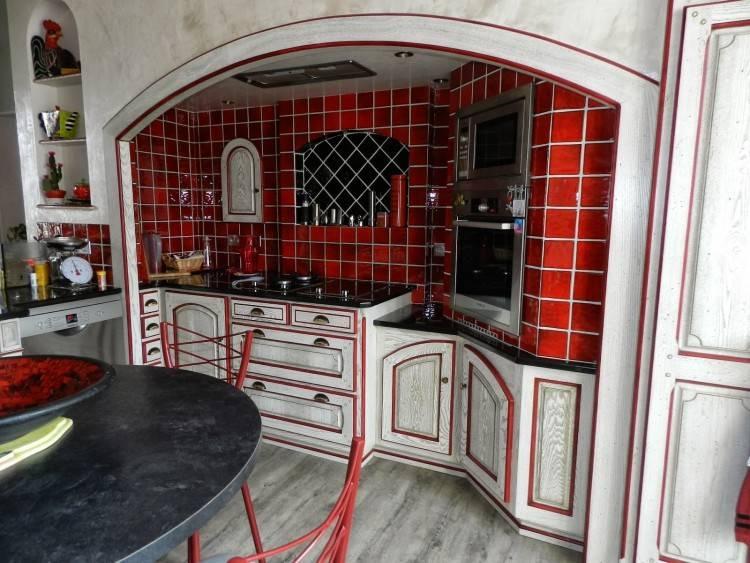 Model De Cuisine En Bois Rouge Idée De Modèle De Cuisine