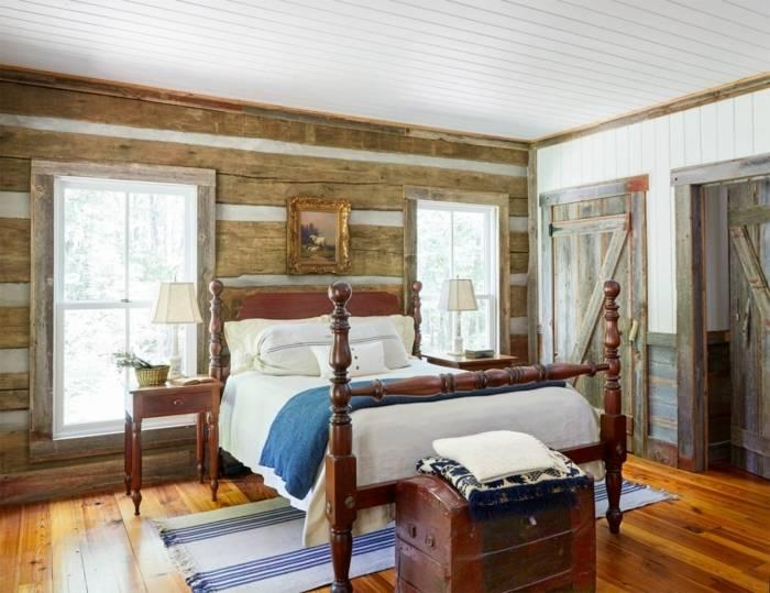 65 Classic And Vintage Farmhouse Bedroom Ideas Pinterest Chambre Avec Et Deco Chambre Campagne Chic 8