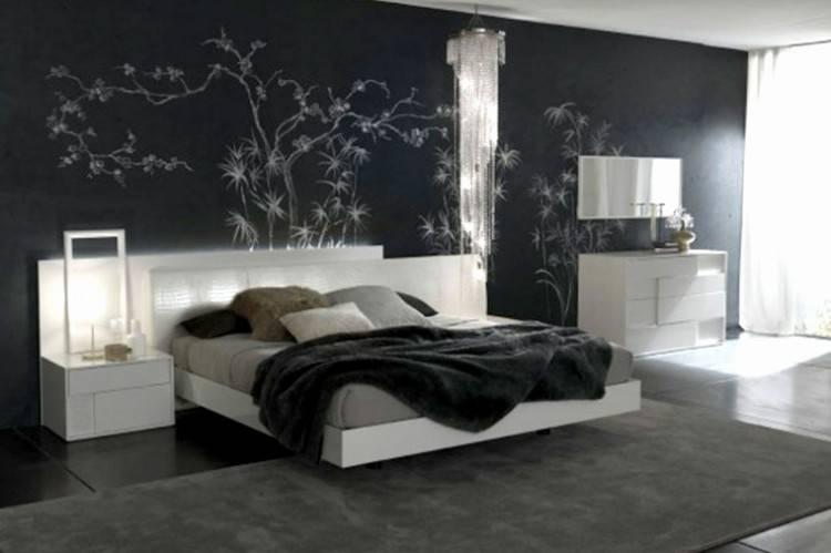 Déco Chambre à Coucher Adulte Luxe Chambre A Coucher Mur Noir Waaqeffannaa