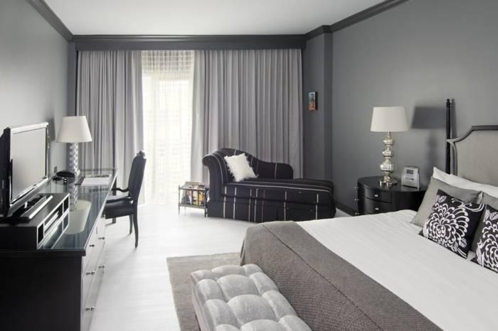 Chambre à coucher décor chêne gris