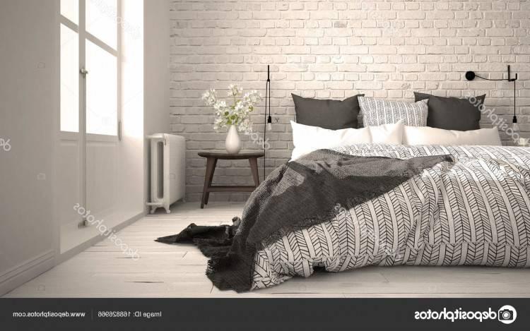 comment décorer sa chambre, mur couleur grise, linge de lit bleu blanc et noir, commode bois vintage, tapis gris et blanc, chaise retro,