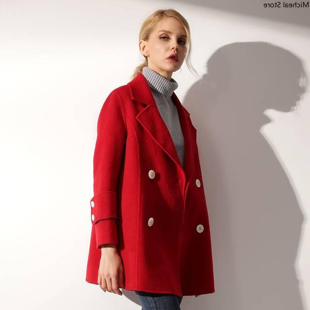 Réduction Du Prix Le Plus Bas Haut de gamme Plus Taille L/8XL De Laine Manteau 2018 De Mode Femmes