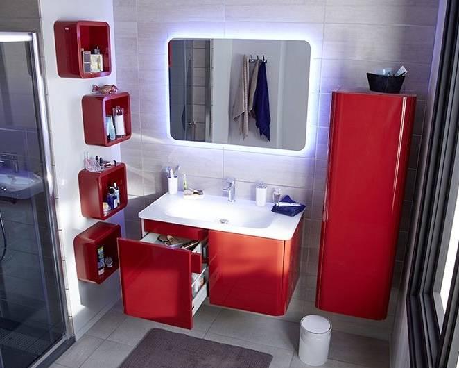 Idée Déco Salle De Bain Moderne Luxe 12 Beau Salle De Bain Rouge Intérieur De La