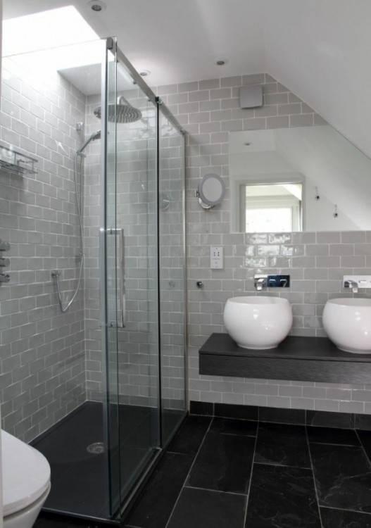 Carrelage Gris Mural Et De Sol 55 Idaces Intacrieur Extacrieur Adhesif Salle  Bain Brico Depot Bains Moderne