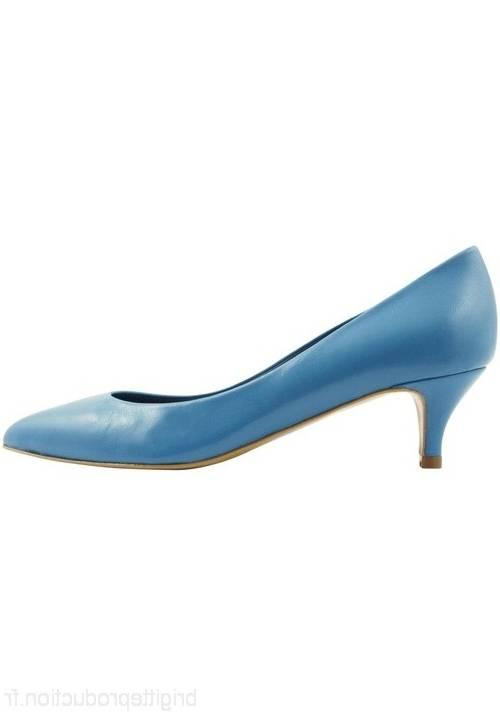 chaussures en cuir cuir en haut talon, bleu foncé, mademoiselle r 94e100