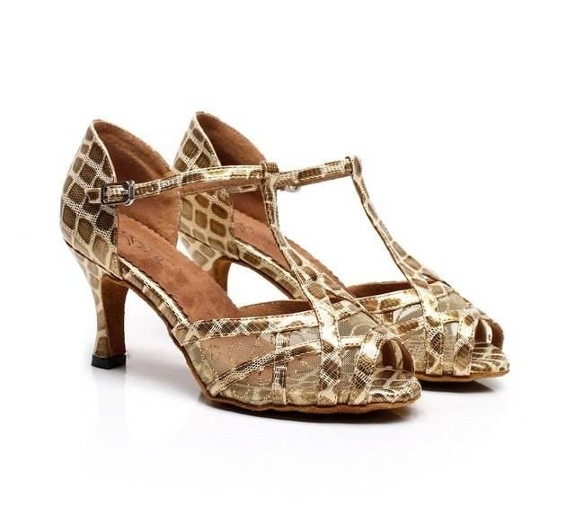 Wgwioo Chaussures De Danse De Danse En Tango Pour Femmes Chaussure De Balle À Talons Hauts