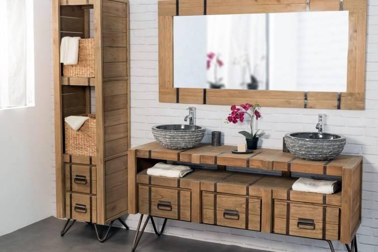 meuble salle de bain ethnique etourdissant design interieur maison moderne petite