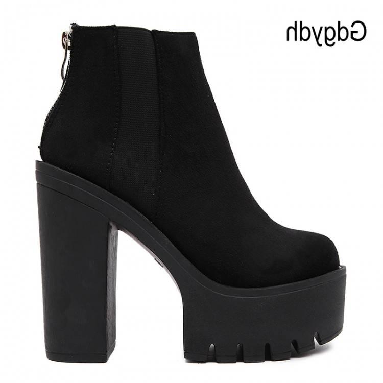 Stretch Bottines Femme Dames 42 Noir Grande Taille Tissu Chaussures Talons Robe Véritable Cuir Bottes Femmes