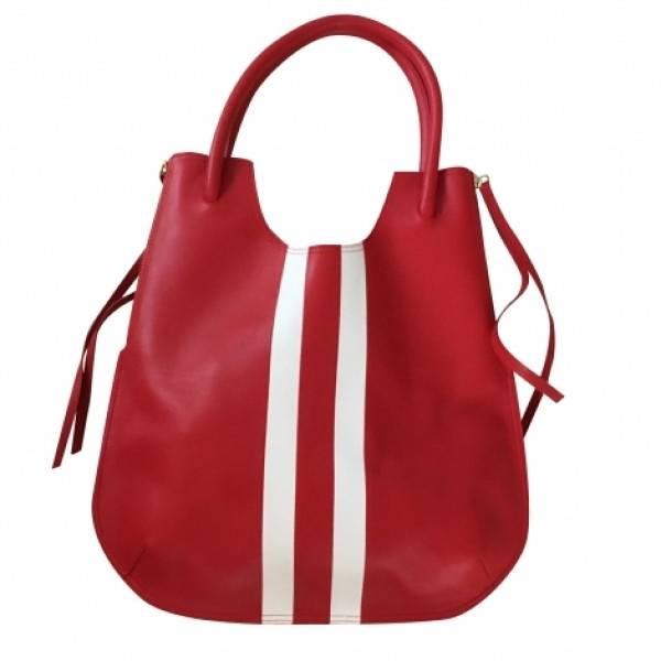 sac à main femme Texier cuir verni bordeaux port épaule