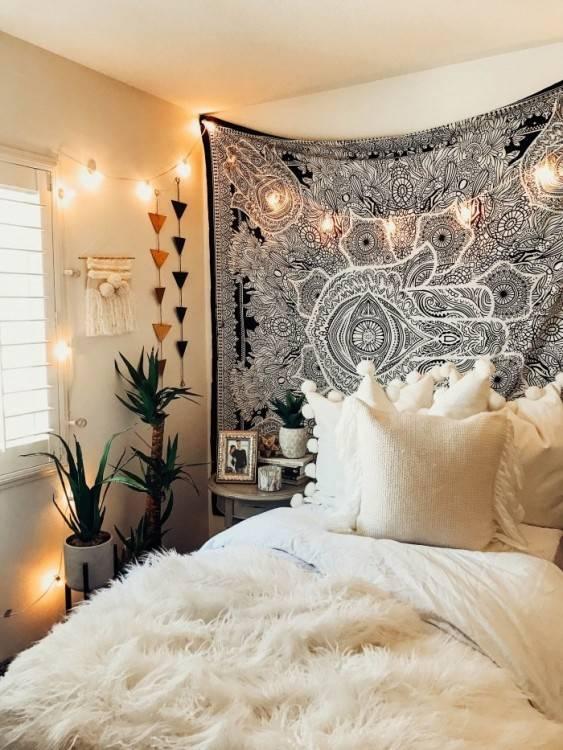 Tapisserie Mandala Wall Hanging Indien Tapestry Hippie Décoration murale pour chambre salon chambre à coucher également
