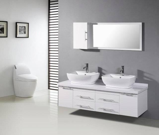 Salle de bain grise – 30 idées sympas pour votre maison moderne