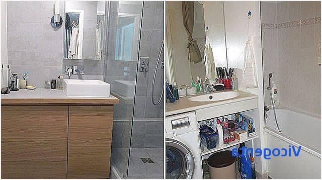aménager salle de bain avec douche italienne moderne avec porte vitrée et toilette suspendu Salle de bain italienne petite surface
