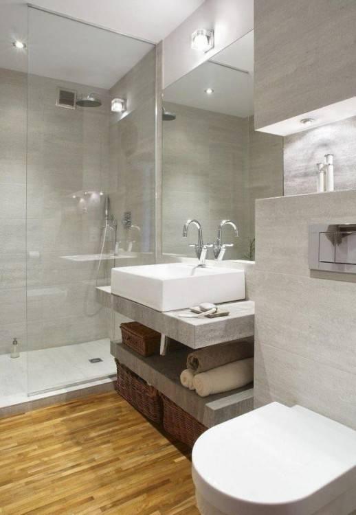 Salle de bain moderne, douche à l'italienne