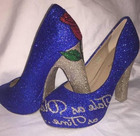 chaussures Disney petite sirène talons, Disney Disney talons, Princesse, vous sortez chaussures, chaussures