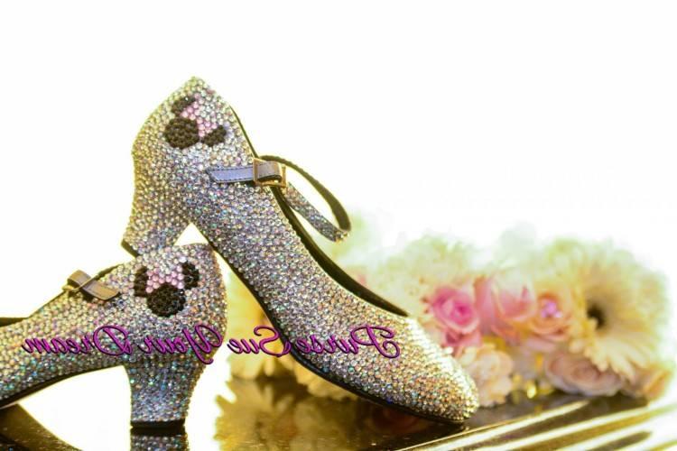 Haute Talons 10 CM De Mariage Nuptiale De Soiree Cendrillon Chaussures Femmes Pompes Faux Cristal Rose