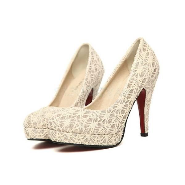 ESPADRILLE Rivets en dentelle chaussures à talons hauts