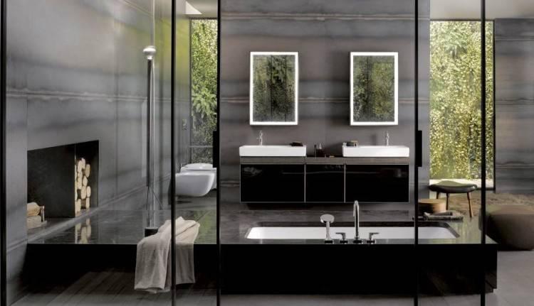salle de bain ardoise et galets revetement mural materiaux naturels avec decoration salle de bain en bois quelques idees with revetement mural bois salle de