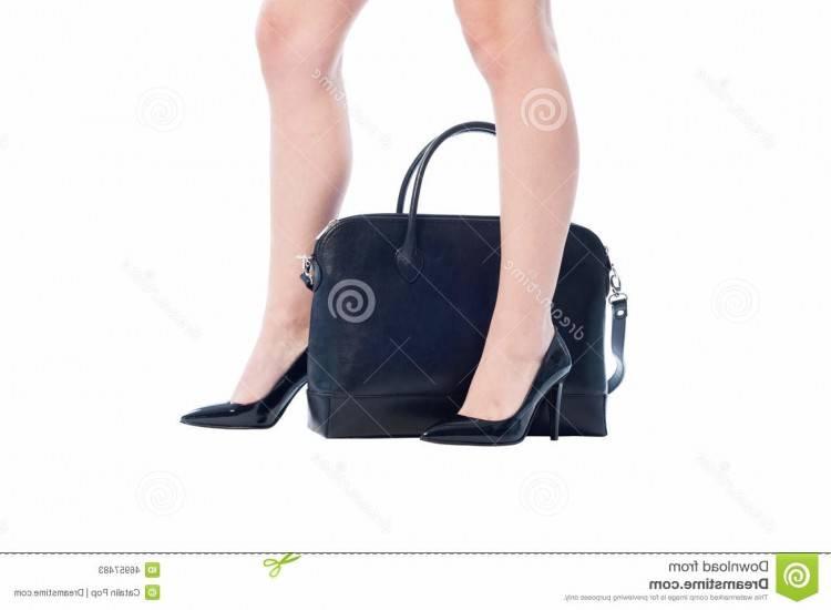 Silhouette de femme d affaires tenant le sac à main