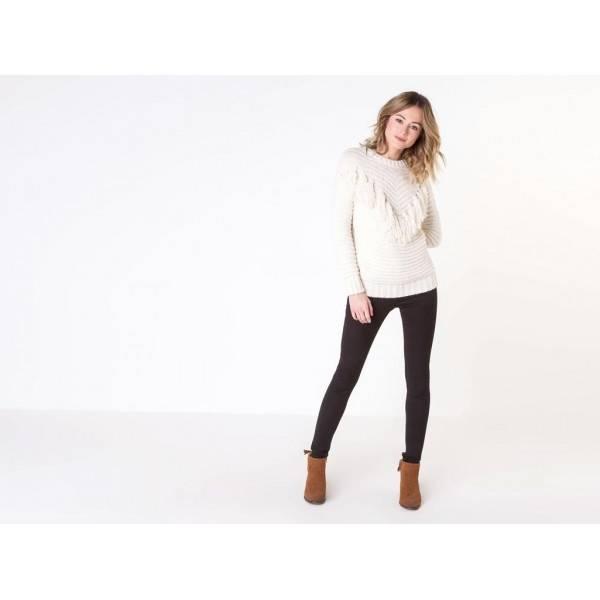 être à la mode Noir AQUASCUTUM Pantalon gabardine / taille normale /  regular fit / jambes droites / fermeture avec fermeture éclair et agrafes /  multipoches