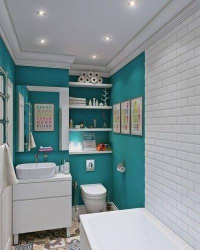 idee couleur salle de bain moderne 2015 gacnial mur pour sans fenetre