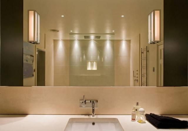 Moderne Lustre Pour Salle De Bain Pour Le Carrelage Damier Noir Et Blanc En 78 Photos