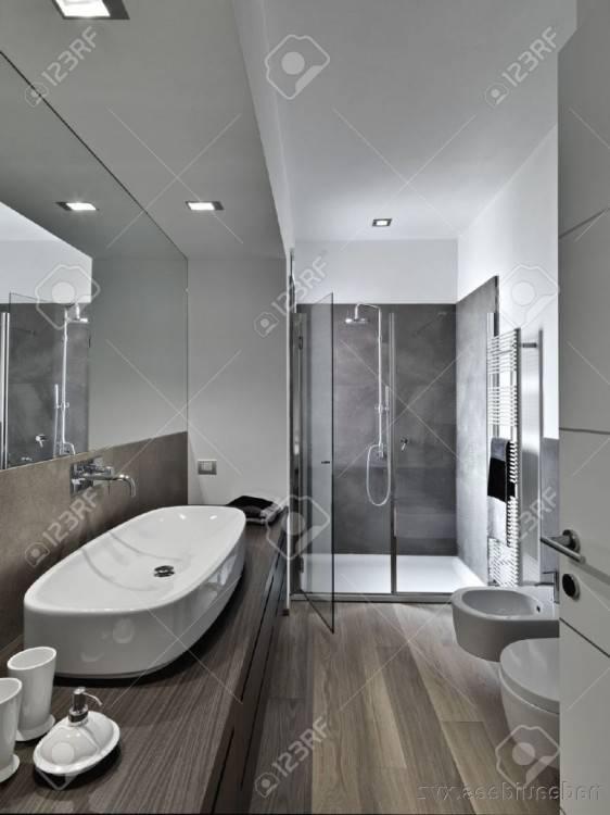 Meuble salle de bains bois gris double vasque Lambesc Bac à douche avec