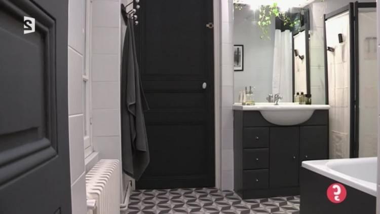 Salle De Bain Moderne Noir Et Blanc: Charmant salle de bain moderne noir et blanc