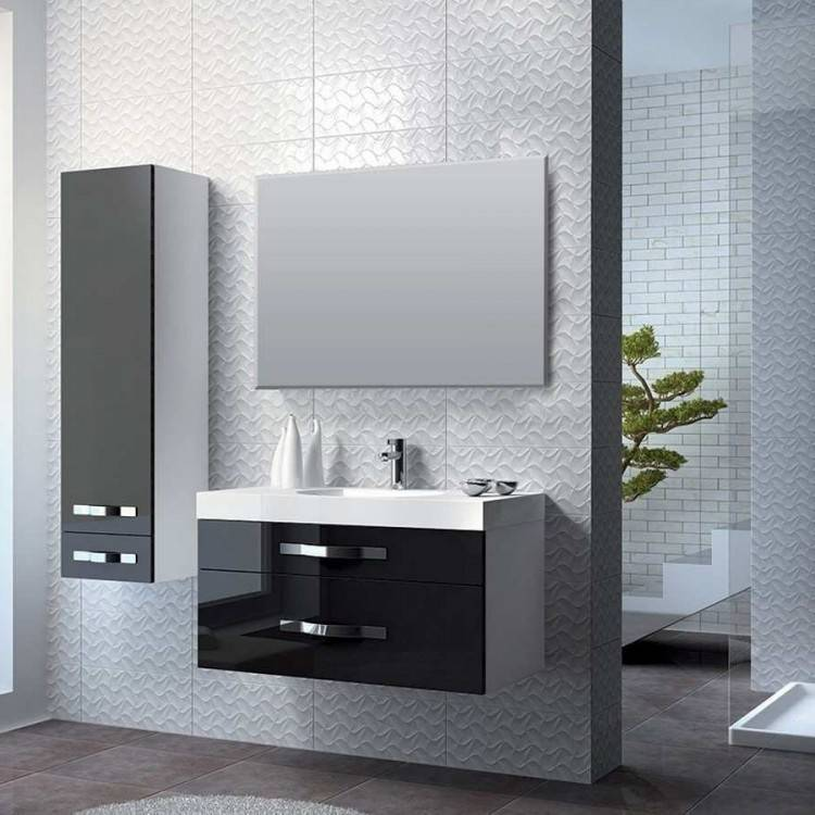 Un plan vasque bois avec tiroirs intégrés, ça évite les meubles encombrants dans une petite