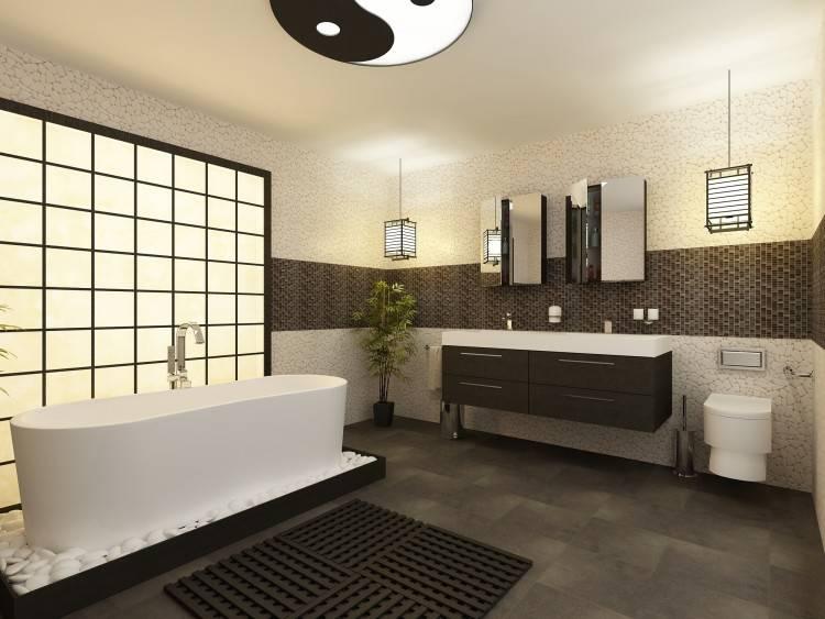 Salle Bain Moderne Bains Carrelage Mural Sol Gris Italien De Con Lave Main Design Italien E