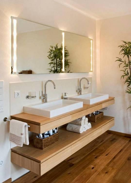 salle bain sobre tons gris Plus de découvertes sur Déco Tendency