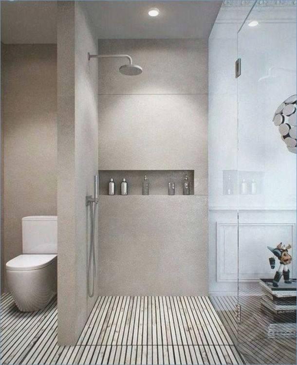 salle de bain couleur taupe
