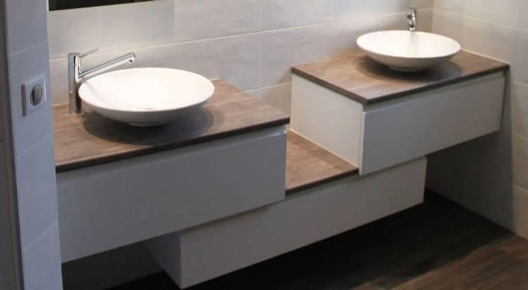 incroyable meuble salle de bain double vasque en moderne simple with