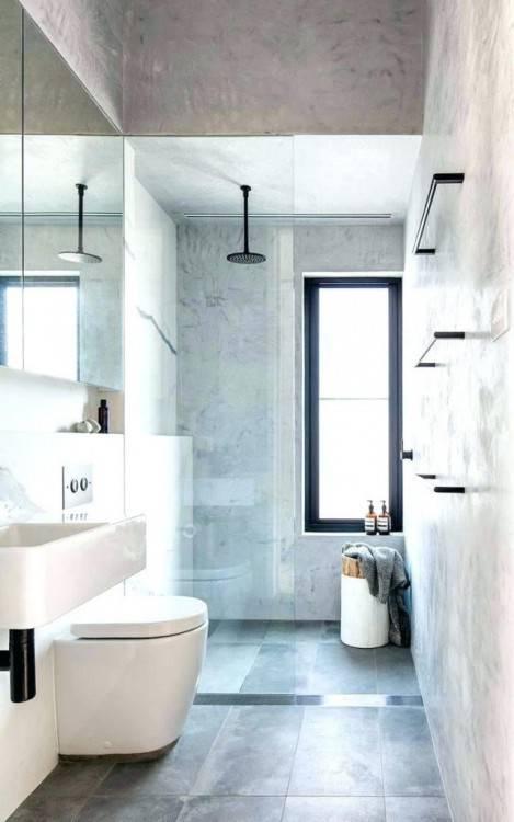 Salon moderne en béton ciré Salon béton ciré Salle de bain béton