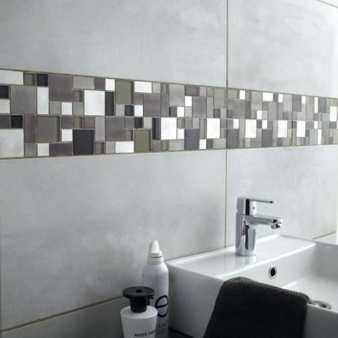 Carrelage sol et mur gris effet marbre Rimini l